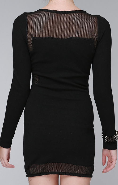 Mesh Block Bodycon Dress