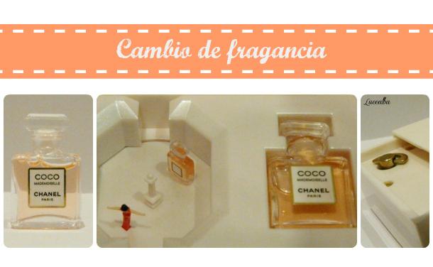 miniatura de perfume caja música chanel