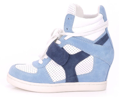 Ash wedge trainers in baby blue