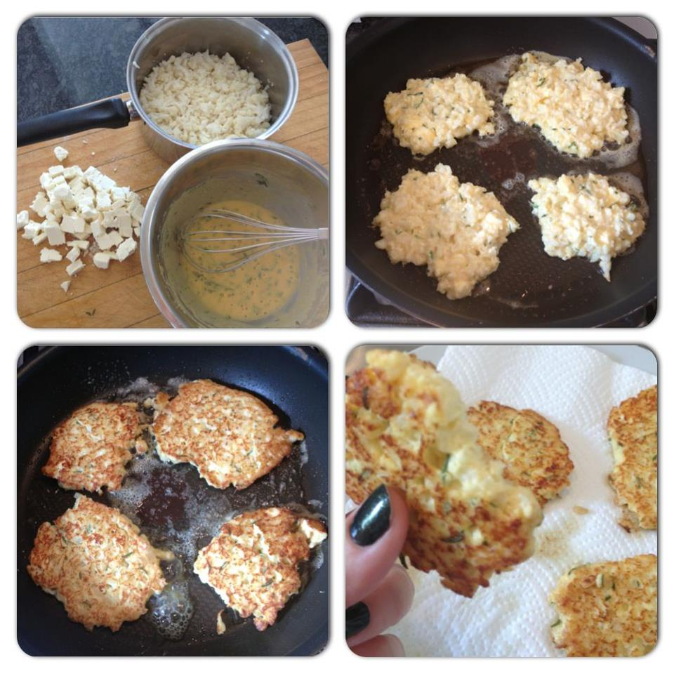 Cauliflower & Feta Fritters / HUNGRY FOR BALANCE