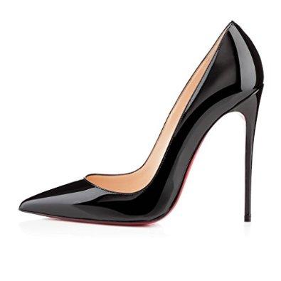 Jushee Women's MRslgesti Closed Pointed Toe Stiletto High Heels for Wedding Dress Pumps