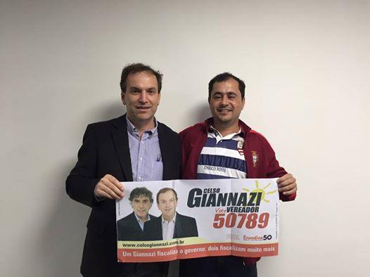 Celso Giannazi, Irmão do Dep. Carlos Giannazi é candidato a vereador na capital de São Paulo.