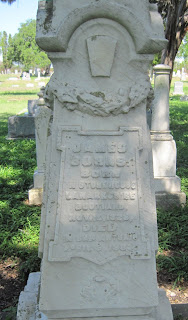 James Burns' inscription