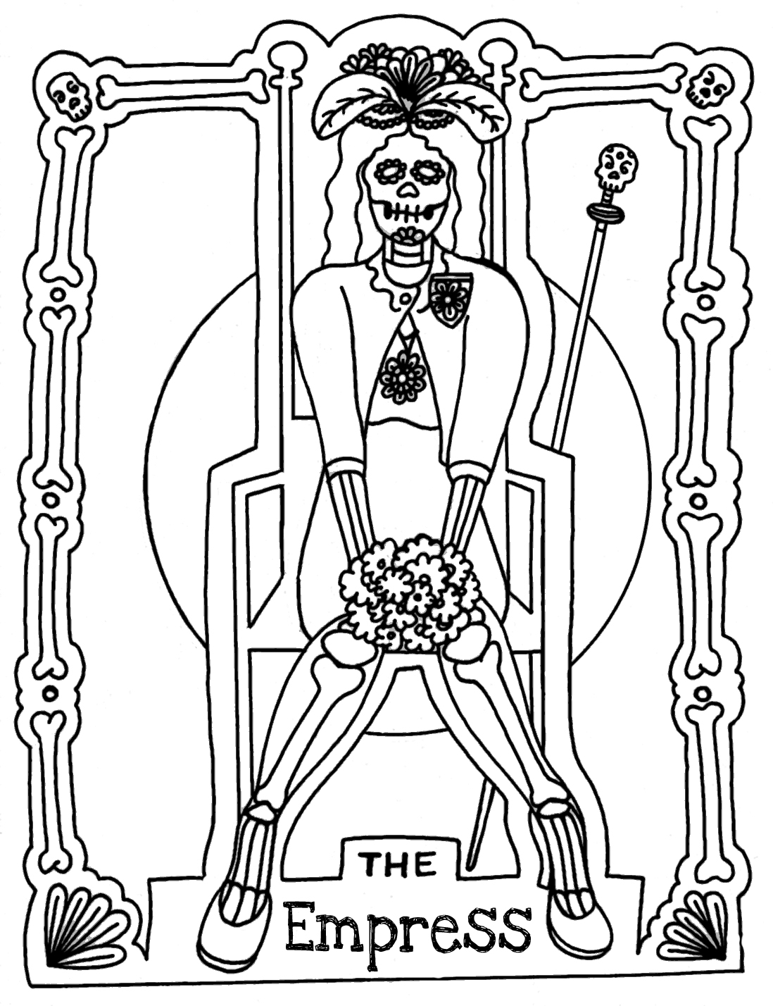 Free coloring pages of tarot cards