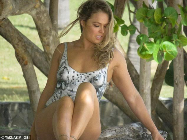 RONDA ROUSEY in Body Paint at Sports Illustrated
