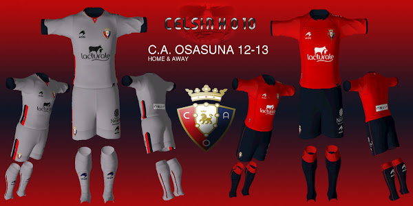 PES 2012 CA Osasuna 2012/13 Kits by Celsinho10