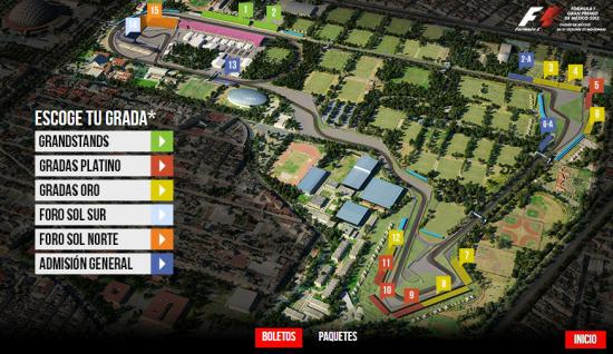 Cerca gran premio México Fórmula 1
