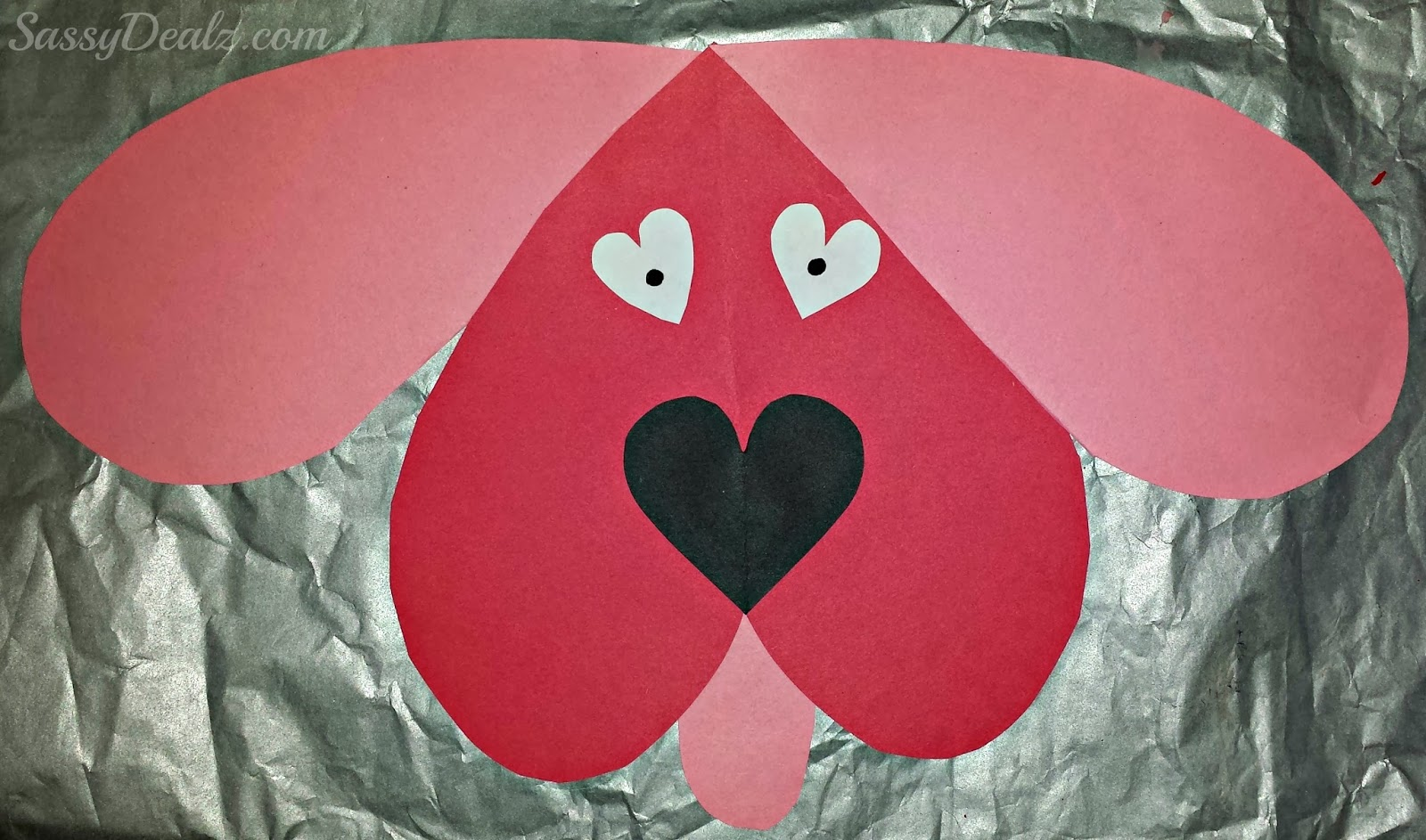 Valentines day heart dog craft quotes for Valentine day crafts for kids