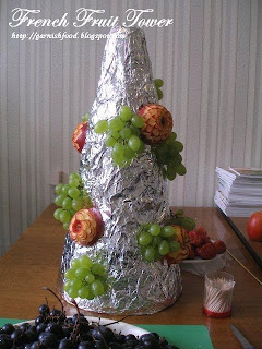 instruction on making fruit tower