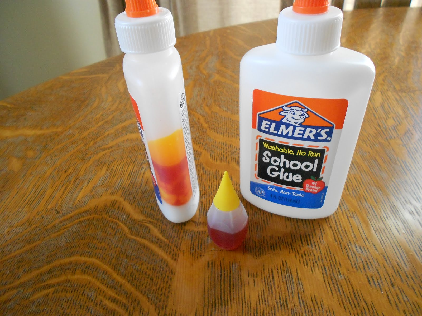 almost unschoolers turning school glue into paint