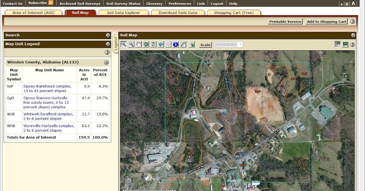 Winston county natural resources council web soil survey for Soil web survey