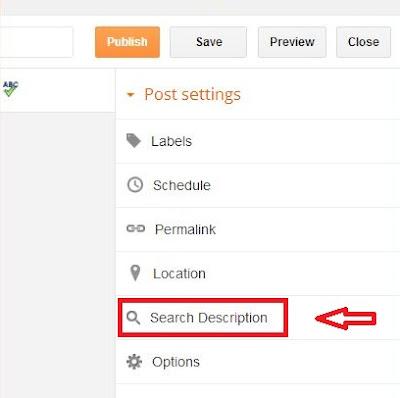 Meta Deskripsi Tunggal Blogger Untuk Optimasi Artikel