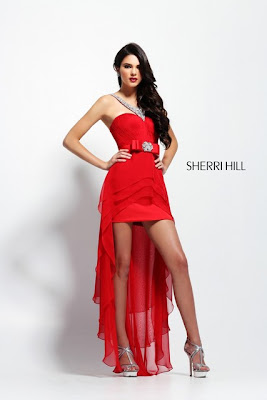 Kendall Jenner Sexy Sherri Hill Prom Dress Photoshoot