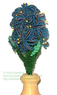 Цветок гиацинт из бисера