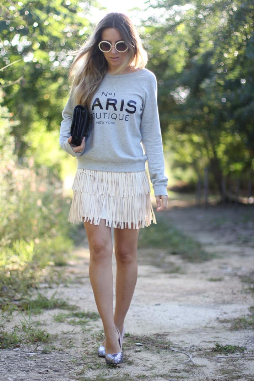 Idea de look con sudadera por fashion blogger