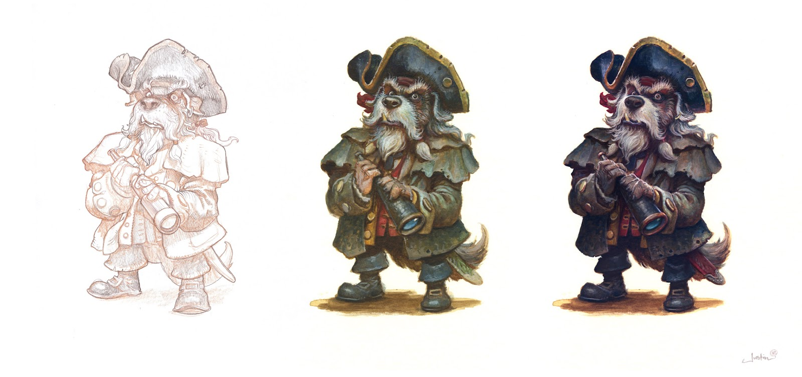 The Character Design Process : Billy bones character design process muddy colors