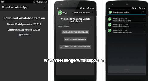 Comprueba todas las actualizaciones con AppUpdate para WhatsApp