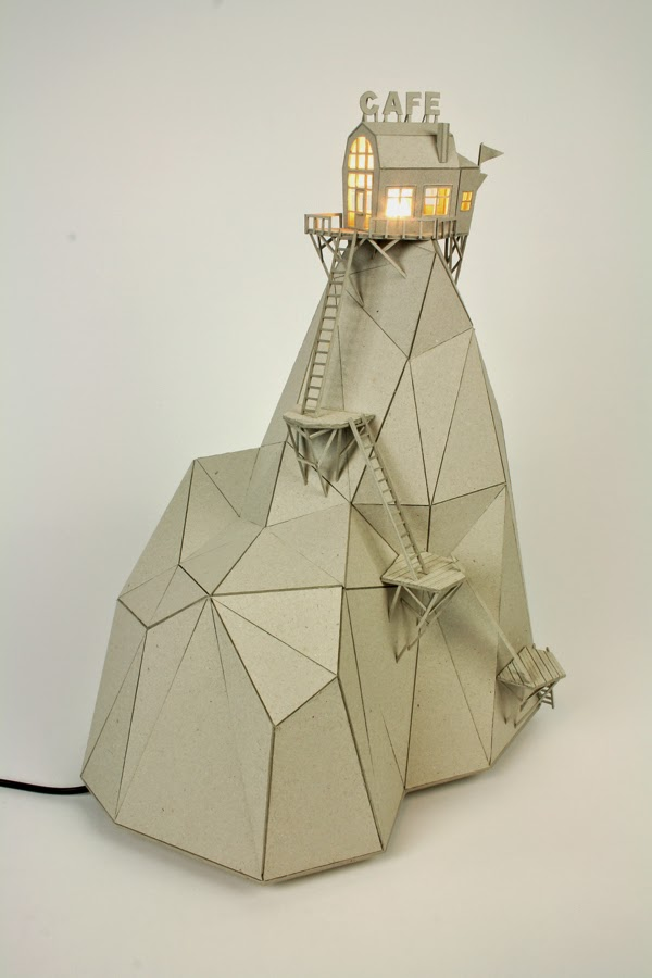 04-Café-Mountain-Vera-van-Wolferen-Architectural-Cardboard-Night-Lights-www-designstack-co