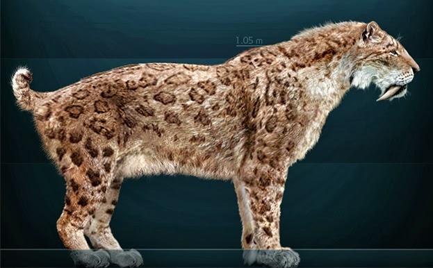 Las especies de animales que los científicos quieren 'resucitar' Megafauna+Smilodon_fatalis_Sergiodlarosa