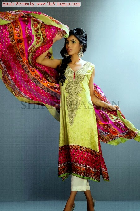 Shirin Hassan Silk Collection 2014 in INDIA
