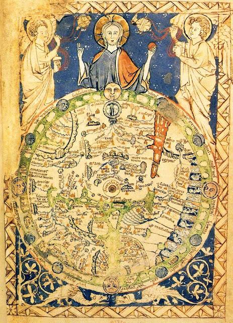 Psalterio medieval: Jerusalém é representada no centro do mundo