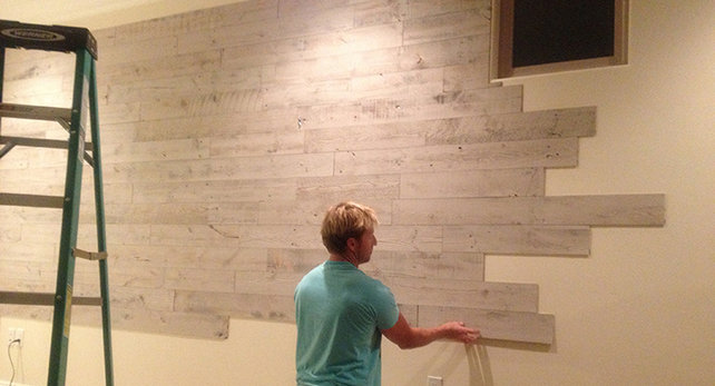 Faux Pallet Wall Peel And Stick