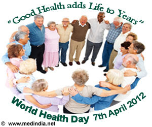 Health day 2012 every year april 7 is celebrated as world health day