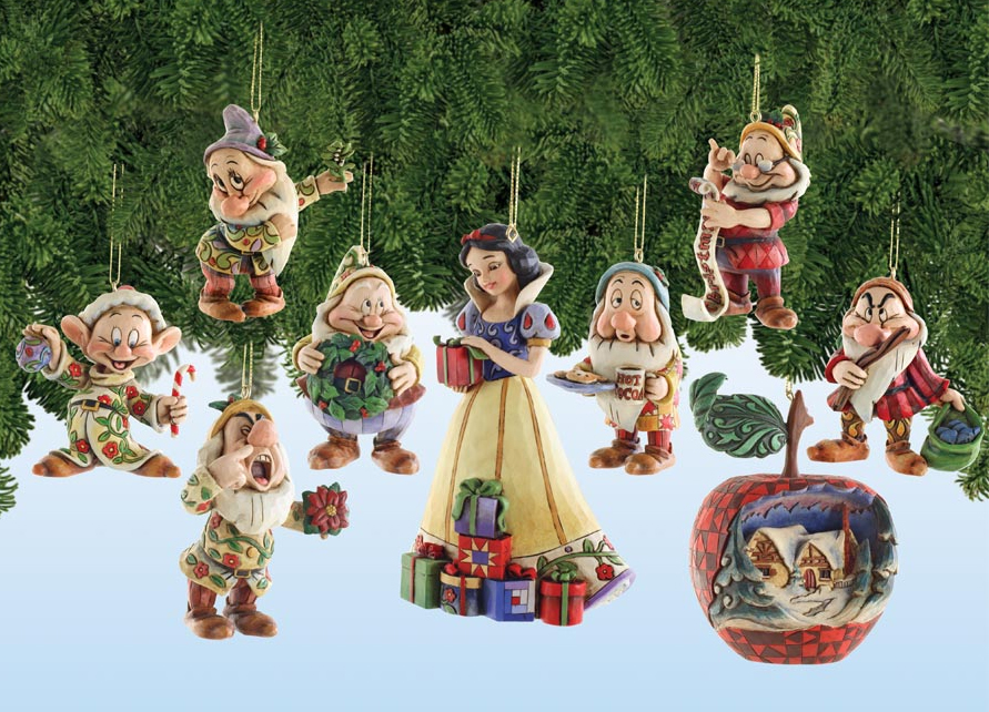 2007 jim shore snow white holiday ornament set
