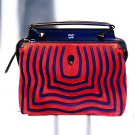 Fendi Dot.com red satchel.