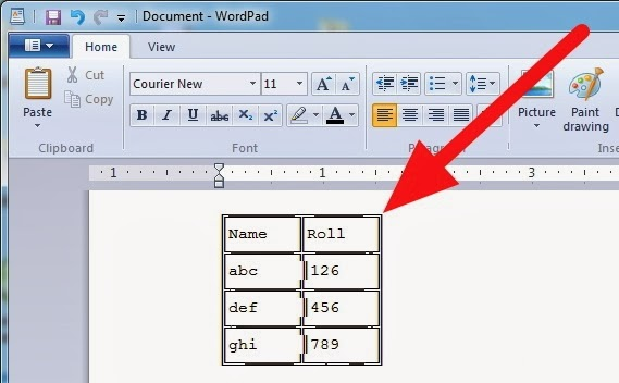 Wordpad ie driverlayer search engine - How to create a table in wordpad ...