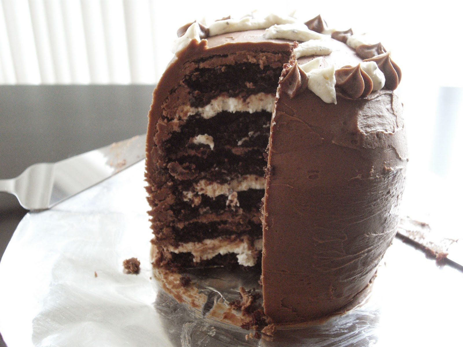 Six-Layer Malted Chocolate and Toasted Marshmallow Chocolate Cake ...