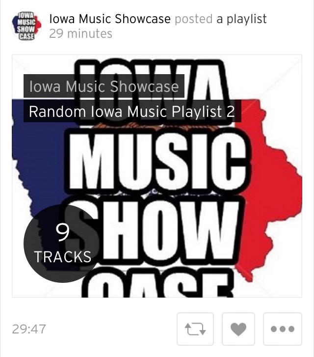 a31fd2235997f Iowa Music Showcase: PLAYLISTS: Random Iowa Music SoundCloud Playlist 3