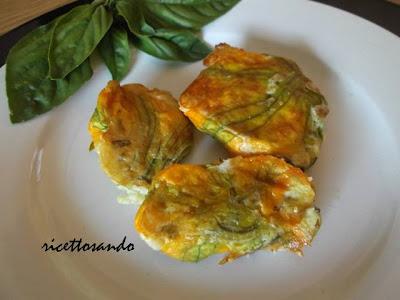 Fiori di zucchina ripieni ricetta antipasto