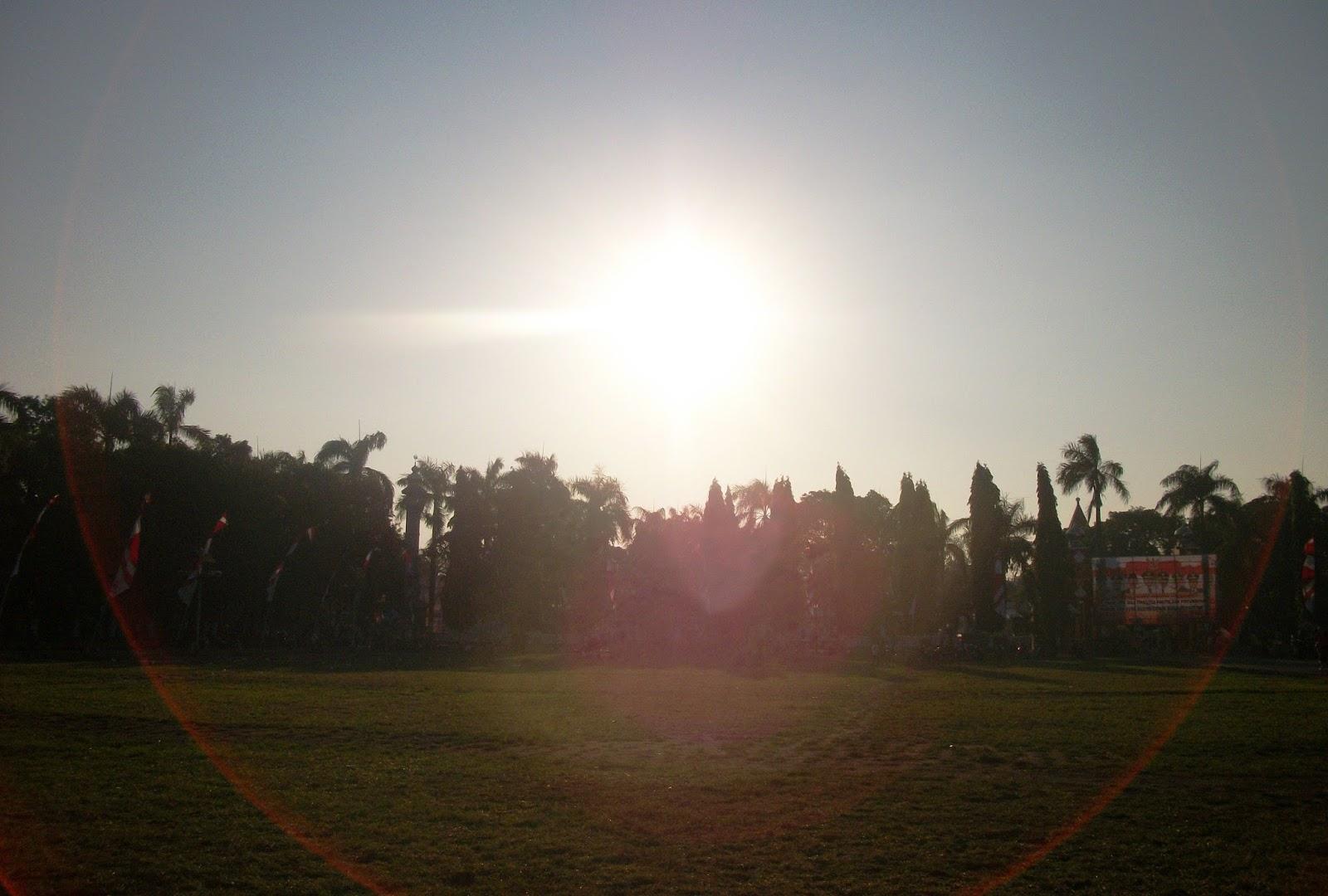 sunrise alun alun jombang ringin contong jombang yang tidak lagi