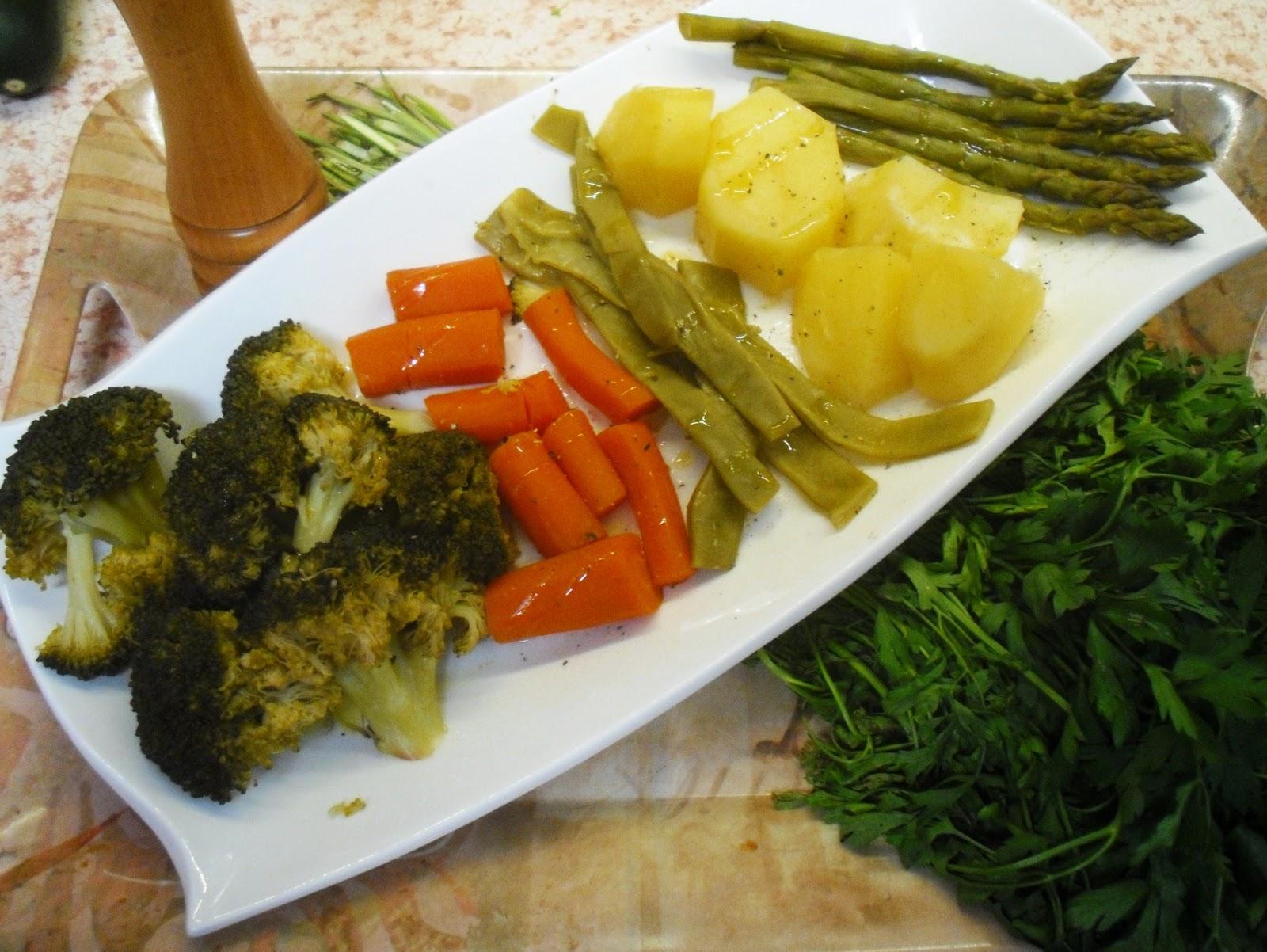 Currycon verduras al vapor - Como preparar las judias verdes ...