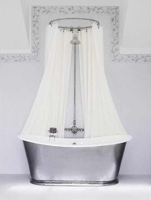 To da loos Don t you just love double shower curtains