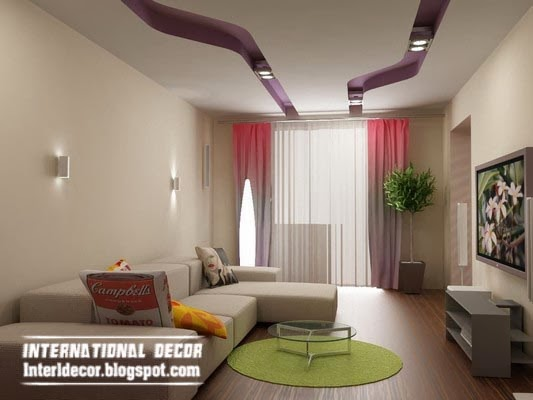 Top 10 suspended ceiling tiles designs and lighting for for Living room designs pop