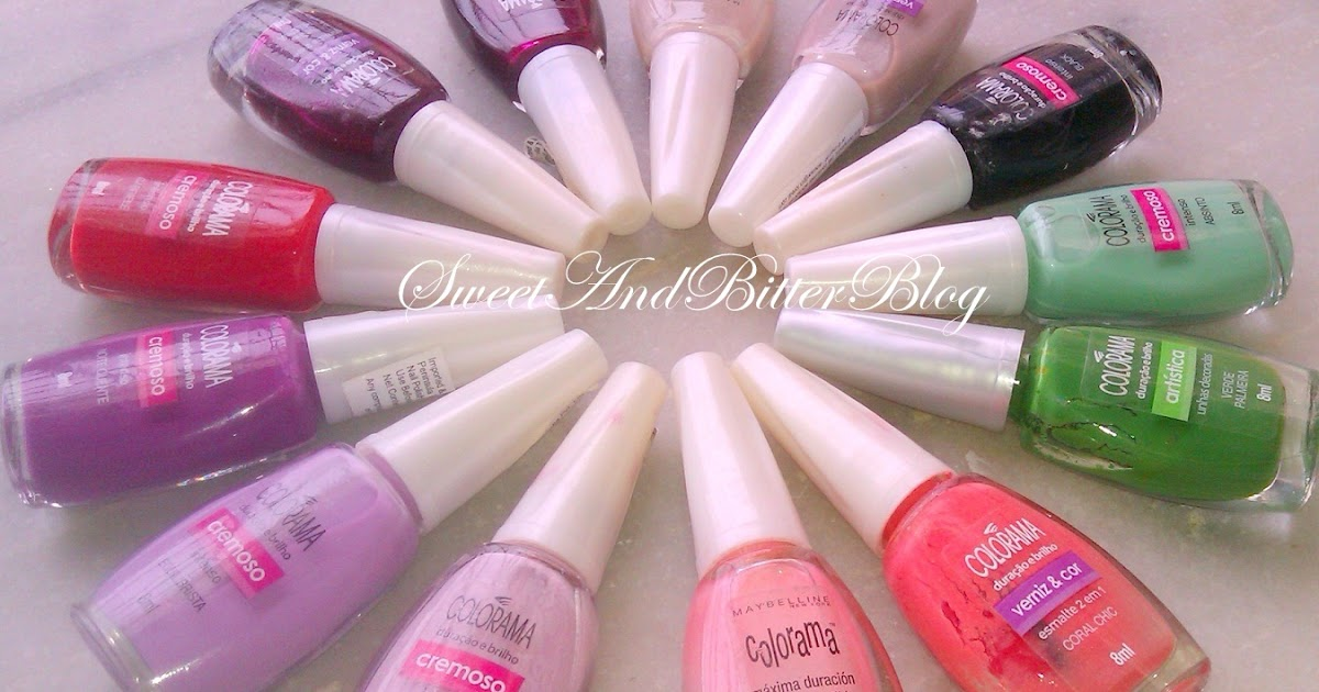 My Maybelline Colorama Nail Polish Collection