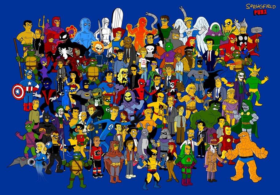 Extrañas caricaturas de Superheroes [Muy buenas]