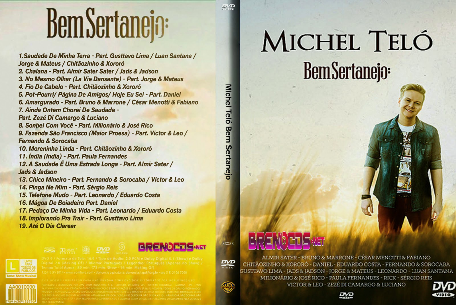 baixar dvd michel tel bem sertanejo via torrent