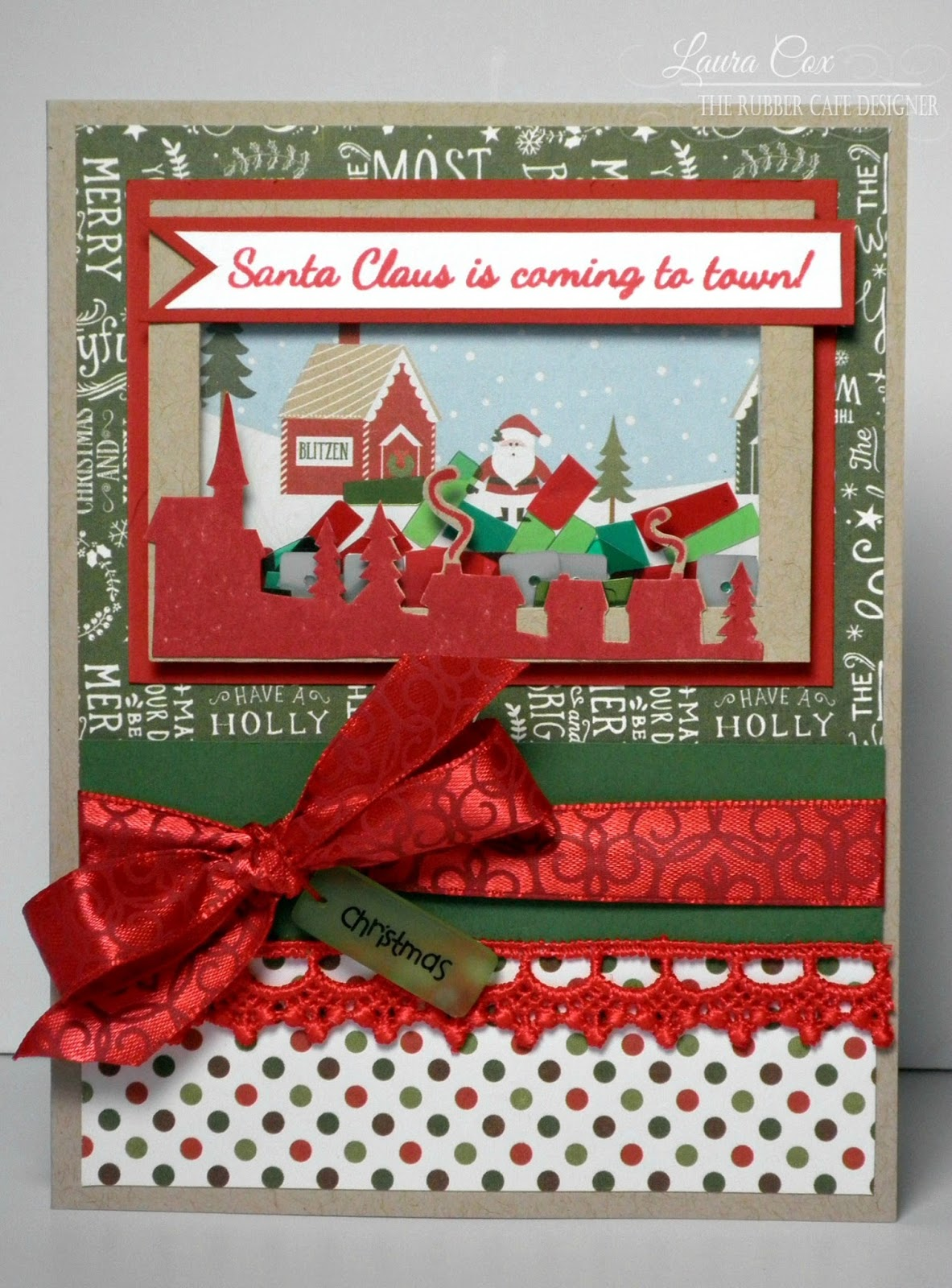 the rubber cafe design team blog: santa's coming shaker card