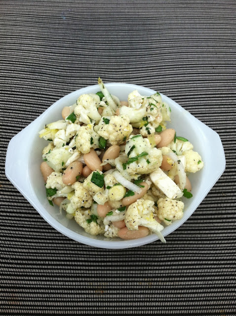 ... bags and dirty diapers: Cauliflower, White Bean, and Feta Salad