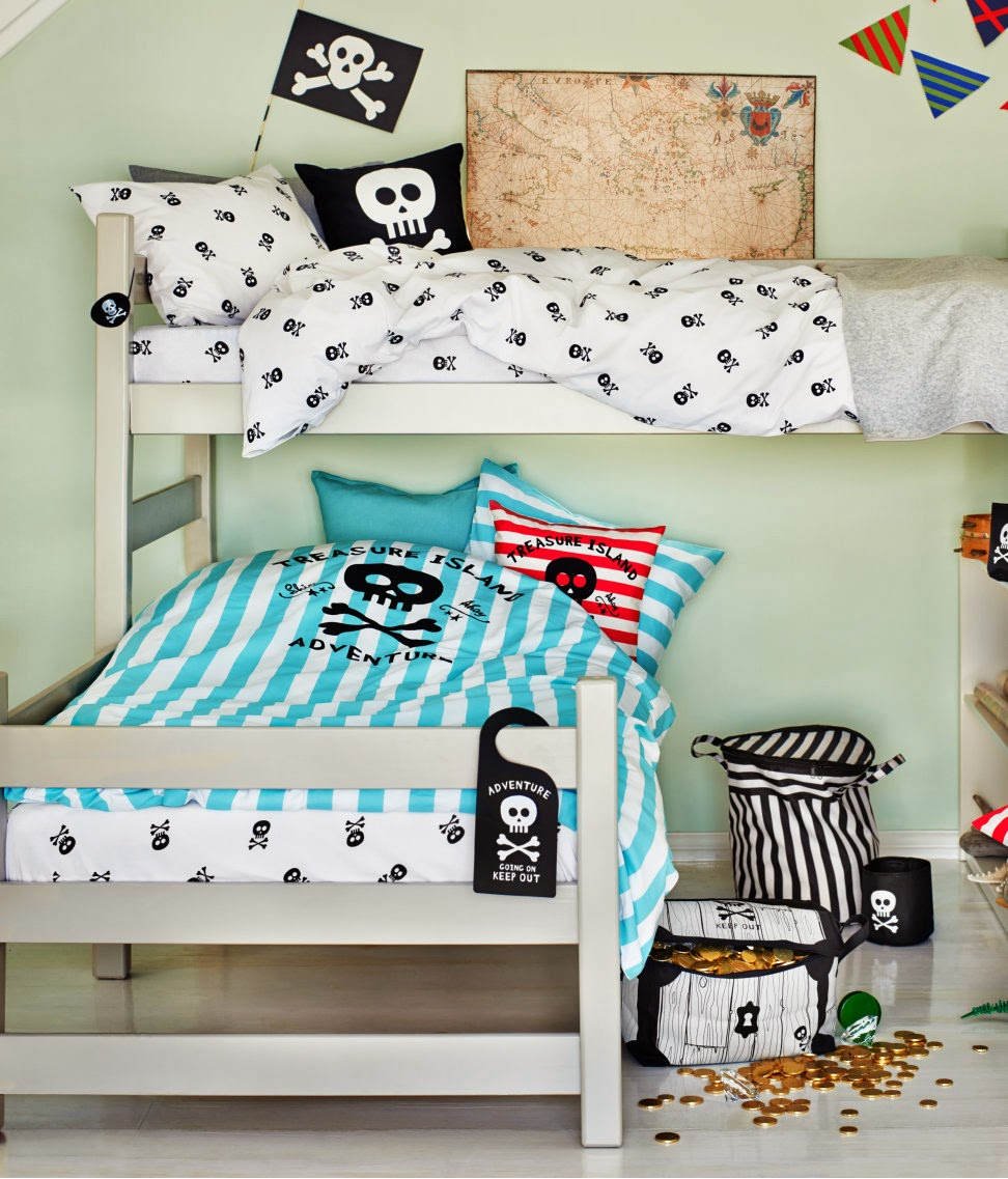 mamasVIB | V. I. BUYS: YO HO HO! A cool Pirate style bedroom buys for little lads or lassies, bedroom trends, kids bedding, kids bedroom style, V. I. BUYS, interiors, bed,