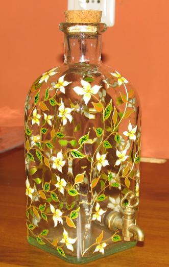 Manualidades cristina y maria garrafas de cristal decoradas - Manualidades con botellas de cristal ...