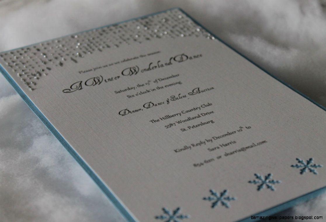 Holiday Invitation Winter Wonderland Invite