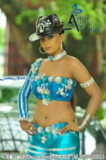 Menaka Peiris blue navel