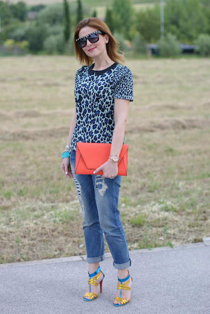 Maison Scotch mixed prints blouse, boyfriend jeans, Fashion and Cookies