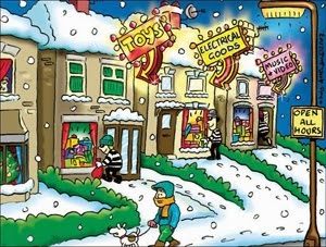 Keytek Locksmiths 'The 12 Security Tips of Christmas' Police Forces burglary awareness Christmas cards