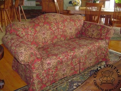Floral Slipcover Perfect Pattern Matching