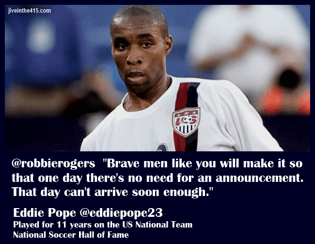 Soccer Hall of Famer Eddie Pope's tweet to Robbie Rogers